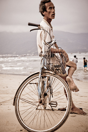Man and his bicyle