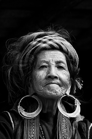 Old lady from H'Mong Ethnic minority